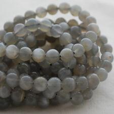 Grado A Natural Gris Piedra Lunar Piedra Preciosa Redonda Con Cuentas - 4 mm 6 mm 8 mm 10 mm