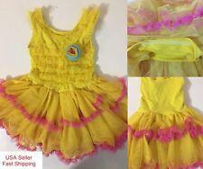 2018 Girls Flower Dress Yellow tutu For birthday Wedding party Dress k46