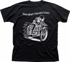 Brutte notizie veloce Biker YAMAHA KAWASAKI HONDA SUZUKI MOTO Nero T-shirt FN9296