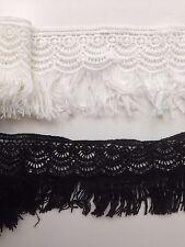 2 Yd (environ 1.83 m) vintage Fringe Lace Edge Trim Tassel Ruban À faire soi-même dress sewing craft