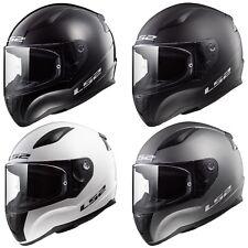 LS2 FF353 Rapid Soild Full Face Motorcycle Crash Helmet Black White Titanium