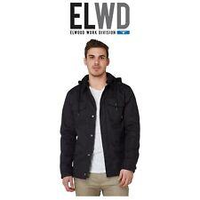 Mens Elwood Utility Jacket Cotton Canvas Hood Fleece Lined Winter Warm EWD401