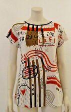 Laltramoda T- shirt fantasia bianco e roso , Donna ,Taglia S , M , L , XL