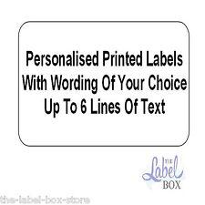 Printed Mini Small Self Adhesive White Return Address Labels 38.1mm x 21.2mm