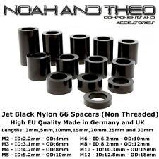 Jet 12x noir nylon 66 plastique entretoises standoff rondelle M2 M3 M4 M5 M6 M8 M10 M12