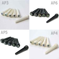 BONE EBONY PLASTICA acustico Bridge Pin AP3 AP4 AP5 AP6