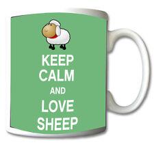 KEEP CALM AND LOVE SHEEP GIFT/PRESENT MUG/CUP