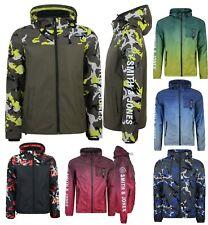 Mens Smith & Jones Camouflage Jacket Zip Up Water Resistant Coat WindProof Camo