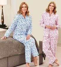 New Ladies  Brushed Cotton Warm Wyncette  Pyjamas Nightwear Sleepwear 12 -26