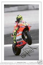 VALENTINO ROSSI DUCATI SIGNED 6x4 PHOTO PRINT AUTOGRAPH MOTO GP