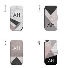 Nombre Personalizado Mármol Abstraction a43 Abatible Billetera Estuche Samsung s9+ IPhone X