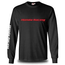Genuine Honda Biker Motocycle Racing Freestyle SBK Black Long Sleeve Men T-Shirt