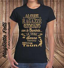 T-SHIRT Ragazza Wing Tsun Maglietta Donna Arti Marziali Abbigliamento divertente