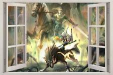 LINK Legend Of Zelda 3D Window View Decal Graphic WALL STICKER Art Mural H351