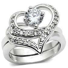 Classy Carmen Heart Ring Wedding Engagement Band - Women Commitment Promise Ring
