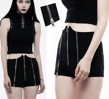 Short taille haute pointe gothique punk lolita fashion sexy zippé zips PunkRave