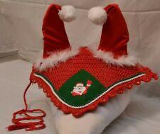 Zainee Santa Claus Horse Ear Bonnet/Net/Hat/Hood/Mask Fly veil Full Christmas