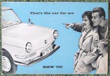 BMW 700 CAR SALES BROCHURE MAY 1960 REF- W186E 15560