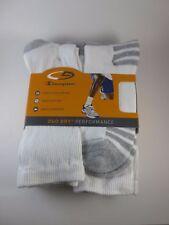 SALE Men's C9 Champion Duo Dry Crew Sock White Size 6-12, 6 pk NWT