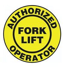 Authorized Fork Lift Operator Hard Hat Decal Hardhat Sticker Helmet Label H149