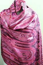 Paisley Pashmina Silk Scarf Luxury Fashion Wrap Womens Reversible Long Stole