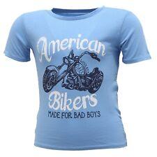 4737S maglia Bimbo WOOLRICH AMERICAN Bikers Azul T-shirt niño