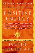 POSITIVE ENERGY Judith Orloff FREE SHIPPING paperback book transform stress fear
