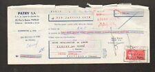 """PARIS (VIII°) METALLURGIE / USINE """"PATRY S.A."""" en 1970"""