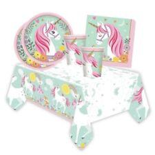 Niña Cumpleaños Mágico Unicornio Vajilla Artículos De Fiesta Picnic Decoración