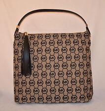 $278 MICHAEL KORS Bedford LG TZ Shoulder Monogram Jacquard Bag Purse Handbag New