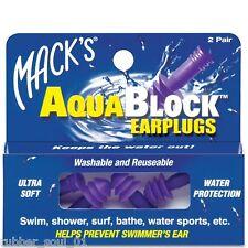 Macks AquaBlock Earplugs - Purple (2 pair)