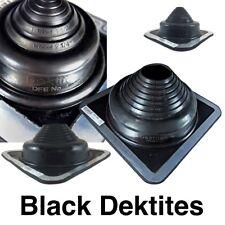 DEKTITE SQUARE PIPE FLASHING BOOT: Black EPDM Roof Flashing - Sizes #1 to #9