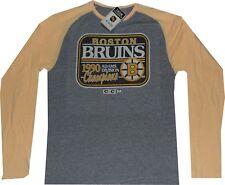 Boston Bruins CCM Raglan Long Sleeve 1990 Throwback T Shirt $35 Clearance