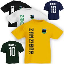 Kinder T-Shirt Trikot Sansibar Zanzibar inkl. Name & Nummer S M L XL XXL Fussbal