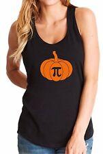 Ladies Tank Top Pumpkin Pi Shirt Math Geeks Funny Halloween Tee Thanksgiving Pie