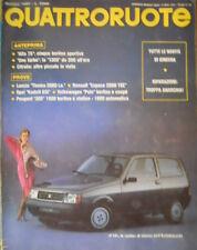 Quattroruote 353 1985 Anteprima:Alfa75,Uno Turbo.Volkswagen Polo,Opel Kadett