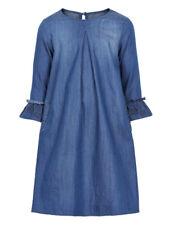 Creamie Frills Blue Denim Girls Dress Sizes 4-14 NWT