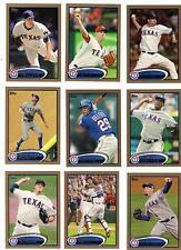 2012 Topps Gold Derek Holland #/2012 Texas Rangers # 34