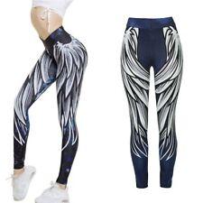 Pant Fashion Jumpsuit Yoga Pants Gym Wear Sports Leggings 3D Angel Wings Print