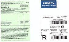 Etiketten selbstklebend Einschreiben Priority CN22 für die Vorfrankierung #