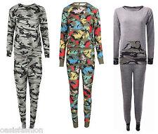 Femmes Imprimé Camouflage Armée Vêtement De Loisirs Ensemble De Survêtement