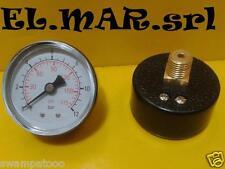 """MANOMETRO 12 bar attacco posteriore 1/4 """" compressore"""