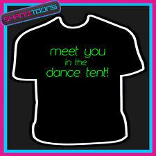 Averti nella danza Tenda Divertente Da Uomo Festa Slogan T-shirt