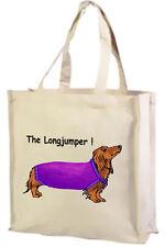 CARTOON Bassotto, la lunga Maglione Cotone Shopping Bag-scelta di colore!