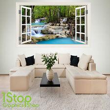 Cascata di Adesivi Murali Finestra a colore pieno-Salotto Camera Da Letto Wall Art W23