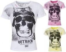 Key largo caballero vintage look Skull Biker t-shirt deadrace calavera Print presión