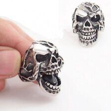 Men's Stainless Steel Movable Mouth Skull Biker Ring Size 8-15 SR47