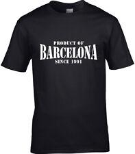 Producto De Barcelona España Cataluña para hombres Camiseta lugar Cumpleaños año de elección