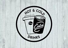 Hot And Cold Drinks Design Shop Business Decor Wall Art Decal Vinyl Sticker