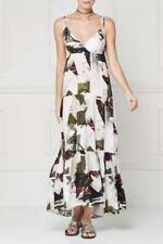 BNWT NEXT Navy Cream Khaki Print Strappy Tiered Maxi Dress